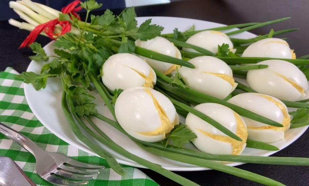 «Белые тюльпаны» – всегда «короли» на любом празднике! Нарядная, шикарная закуска из яиц