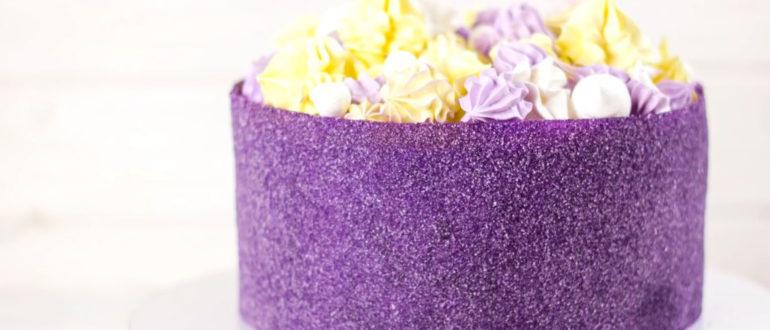 Эффектный сахарный лист для торта! И не надо ничего выравнивать!