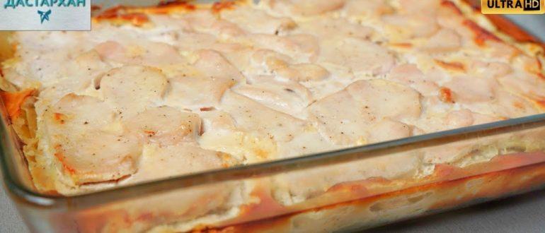 Тоньше нарежешь - вкуснее получится. Экспресс-рецепт с картошкой - сложил, залил, запек!